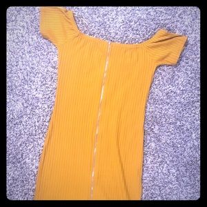 Yellow zipper dress